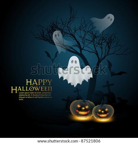 vector halloween background illustration