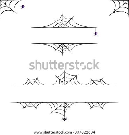 Vector halloween borders collection. Elements for design.