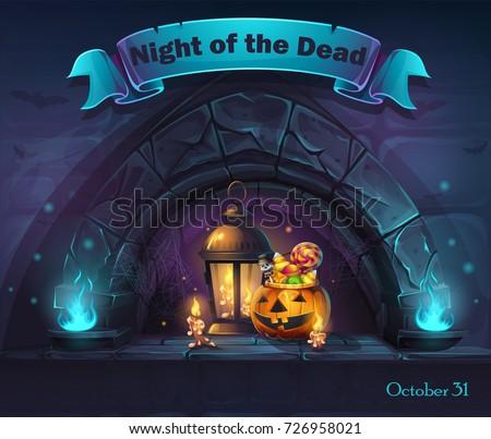 vector halloween cartoon