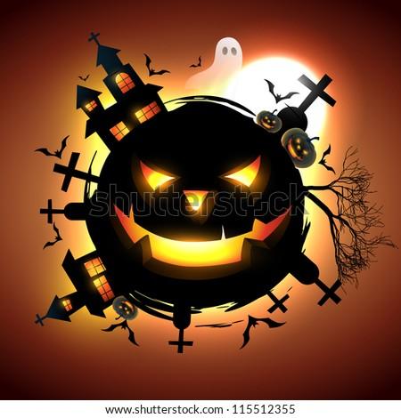 vector halloween design illustration