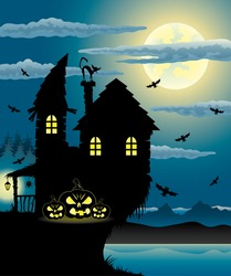 Vector. Halloween illustration.