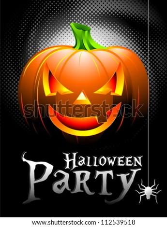 vector halloween party