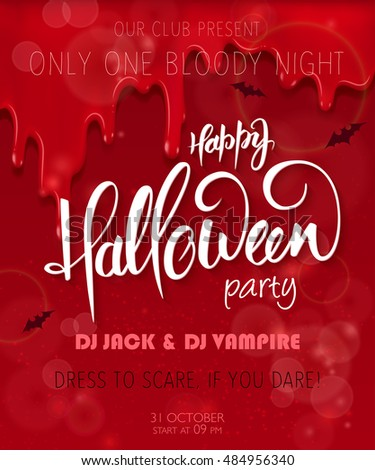 vector halloween party poster