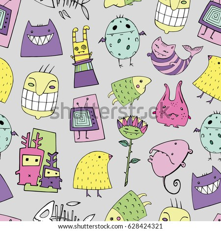 vector halloween pattern with