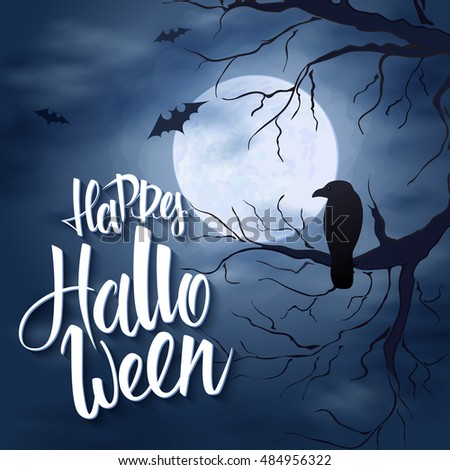 vector halloween poster with