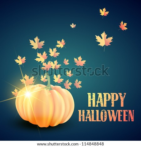 vector halloween pumpkin design illustration