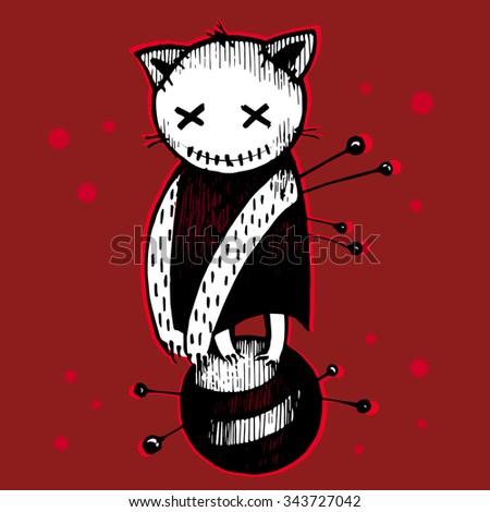 vector halloween voodoo black