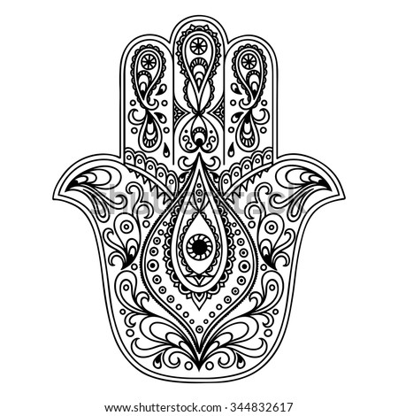 Simple Hamsa Outline 1000 Ideas About Drawing Tattoo