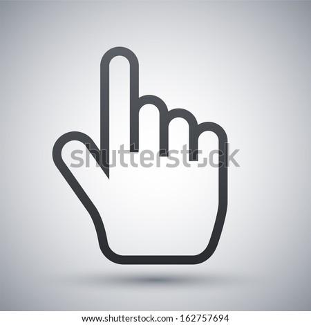 Vector hand cursor