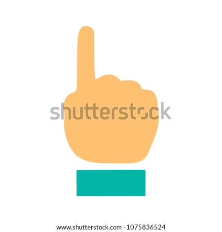 vector hand cursor illustration - mouse pointer symbol isolated