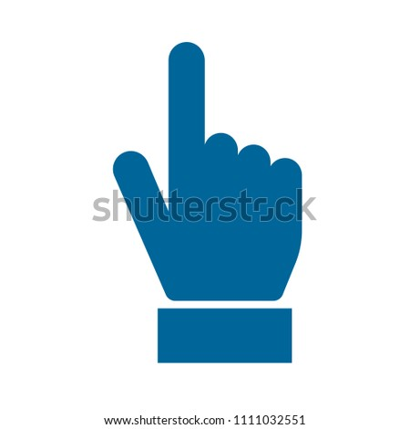 vector hand cursor illustration - mouse pointer symbol isolated #1111032551
