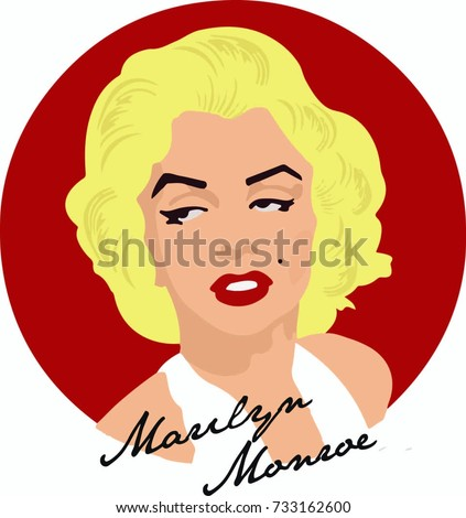 vector hand draw marilyn monroe