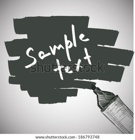 Vector Hand Draw Marker text box