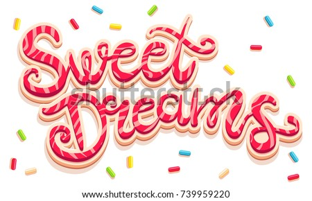 vector hand drawing text sweet