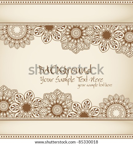 vector hand-drawn abstract flowers pattern