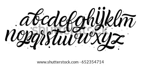 Vector hand drawn alphabet. Brush painted letters. Handwritten script alphabet. Hand lettering and custom typography for your designs: logo, for posters, invitations, cards, etc. Typography vector..