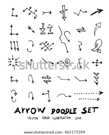 Vector hand drawn arrows set #461173399