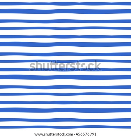Vector hand drawn blue ink ruled lines background. Abstract seamless lined pattern. stock photo