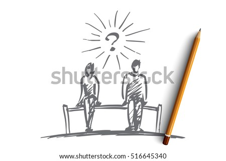 vector hand drawn chess couple