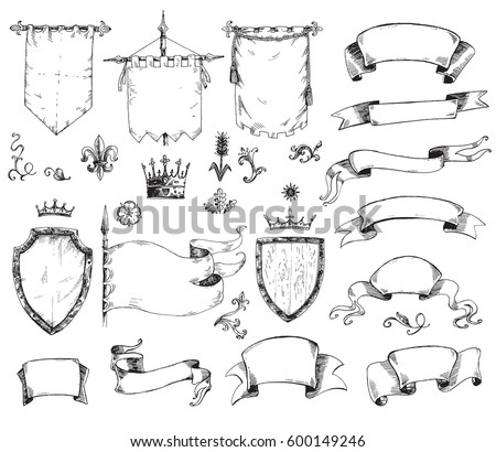 vector hand drawn collection of