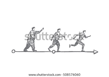vector hand drawn diet sport