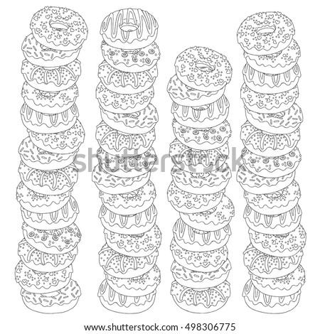 vector hand drawn donuts