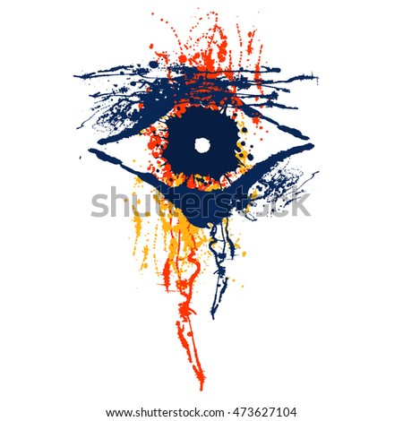 vector hand drawn eye artistic
