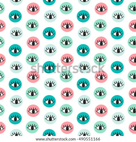 vector hand drawn eye doodles