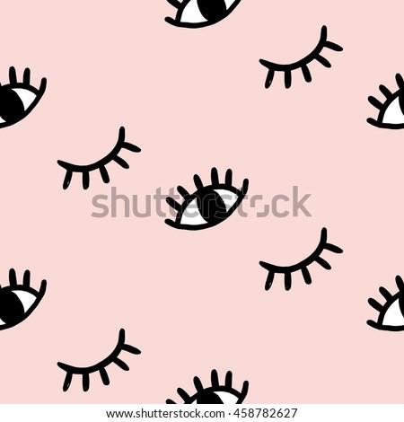 vector hand drawn eye doodles