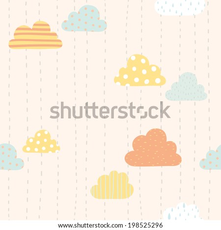 vector hand drawn funny clouds