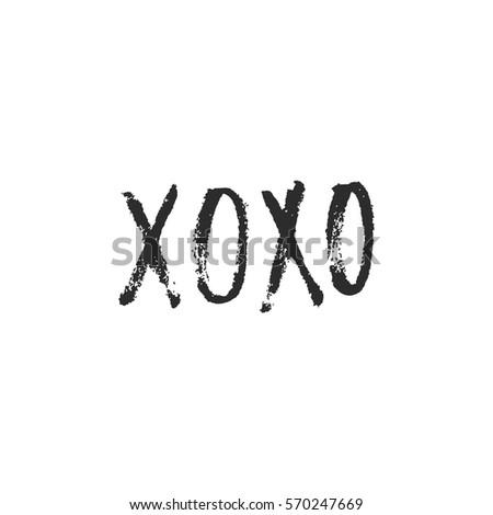 Vector hand drawn greeting card xoxo hugs and kisses calligraphy vector hand drawn greeting card xoxo hugs and kisses calligraphy poster hand m4hsunfo