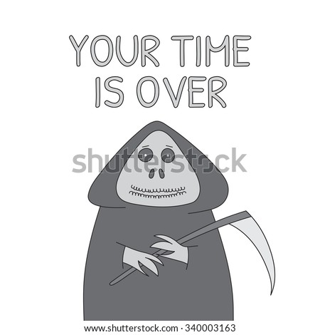 vector hand drawn grim reaper