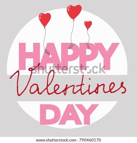 Vector hand drawn Happy Valentine's Day card