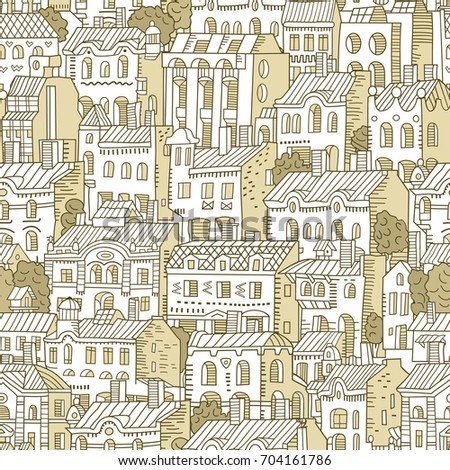 vector hand drawn houses