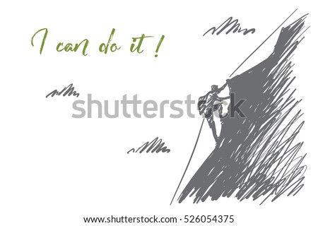 vector hand drawn i can do it