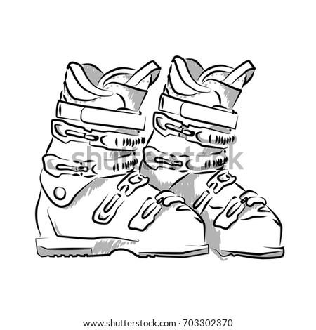 vector hand drawn icon winter