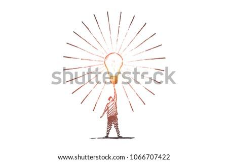 Sketch Light Bulb Vectors Download Free Vector Art Stock Graphics