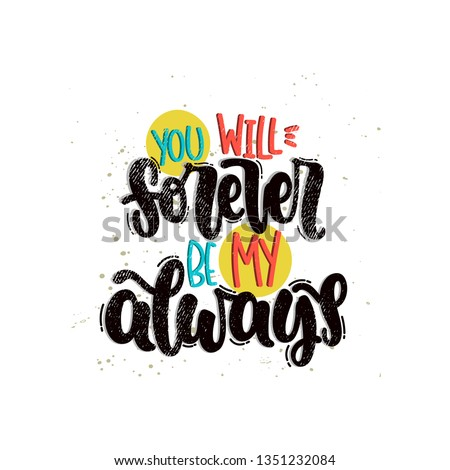 Vector hand drawn illustration. Lettering phrases Be kind always. Idea for poster, postcard.