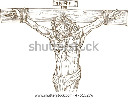 of Jesus Christ hanging on