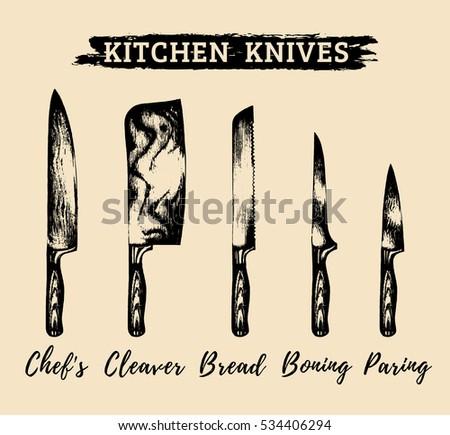 vector hand drawn kitchen or