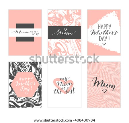 vector hand drawn mother's day