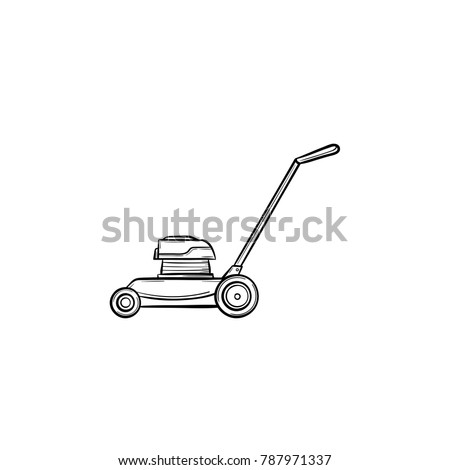 vector hand drawn mover outline