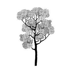 Vector hand drawn of tree.