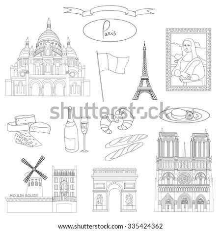 vector hand drawn paris