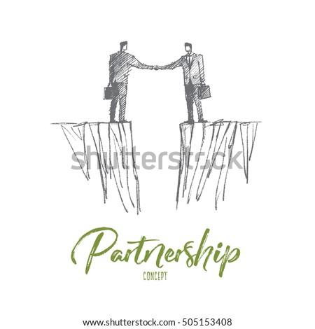vector hand drawn partnership