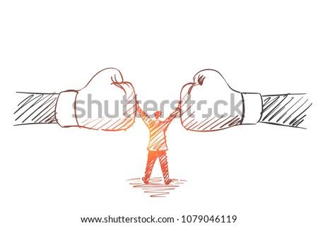 vector hand drawn peacekeeper