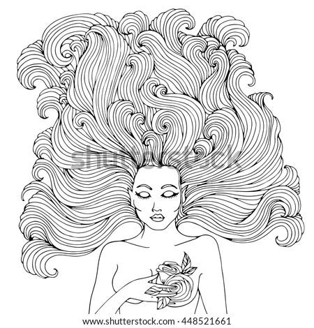 vector hand drawn portrait of