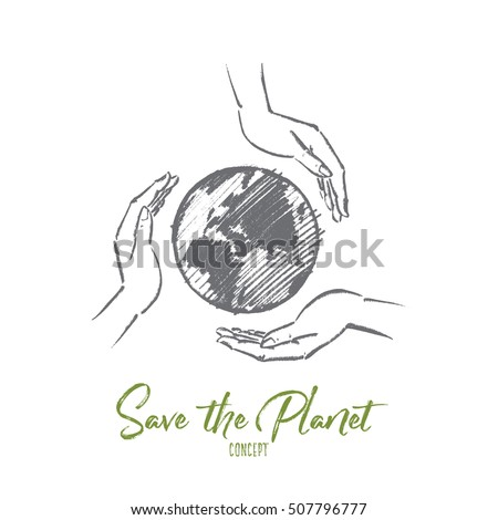 vector hand drawn save the