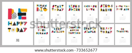 stock-vector-vector-hand-drawn-sketch-colorful-text-calendar-be-happy-today