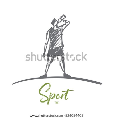 vector hand drawn sport time